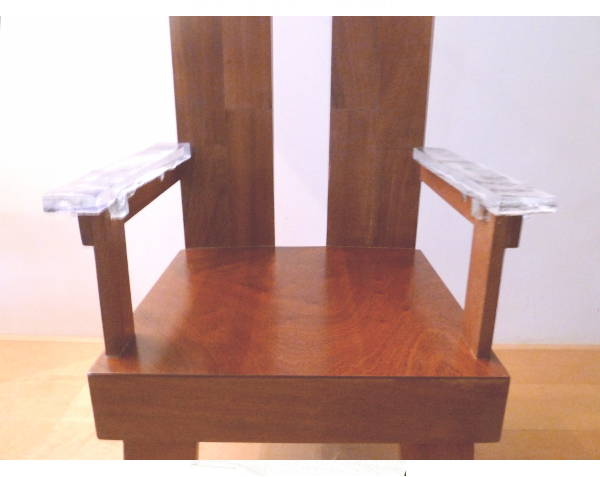 hout & glas stoel